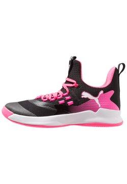 Puma - RISE XT FUSE 2 - Zapatillas de balonmano - black/white/knockout pink