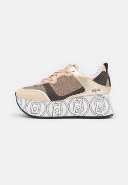 Liu Jo Jeans - SUPER MAXI - Sneakers - light gold