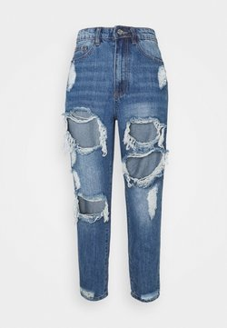 Missguided Petite - RIOT HIGH RISE - Jeans a sigaretta - blue