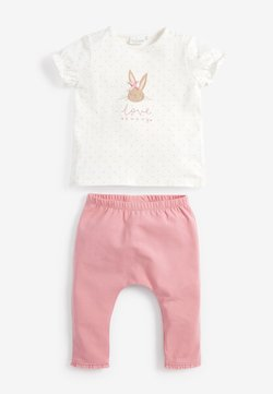 Next - BUNNY SET - Leggingsit - pink/off-white