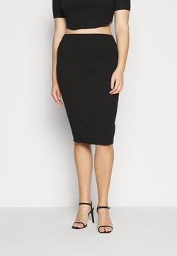 Missguided Plus - MIDAXI SKIRT - Bleistiftrock - black