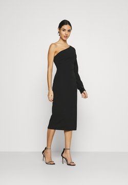 WAL G. - OLIVIA ONE SLEEVE MIDI DRESS - Shift dress - black