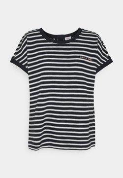 s.Oliver - KURZARM - T-Shirt print - navy strip