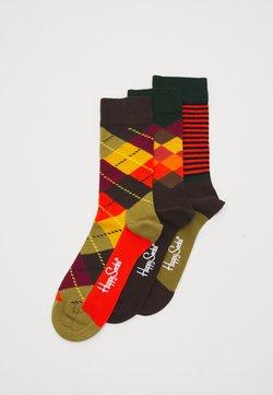 Happy Socks - CLASSICS 3 PACK - Socken - multi browns