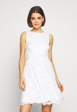 Even&Odd - BASIC OCCASSION MINI DRESS - Juhlamekko - white