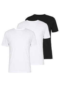 Pier One - 3 PACK - Basic T-shirt -  black/ white