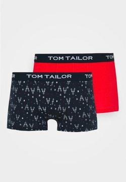 TOM TAILOR - X-MAS PANTS 2 PACK - Shorty - red/dark blue