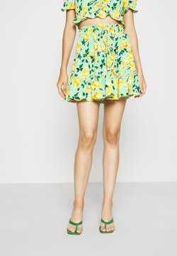Glamorous - HIGH WAISTED TIERED MINI SKIRT WITH FRONT TIE DETAIL - Minirock - green
