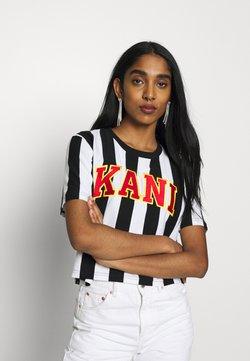 Karl Kani - COLLEGE STRIPE TEE - T-Shirt print - black/white