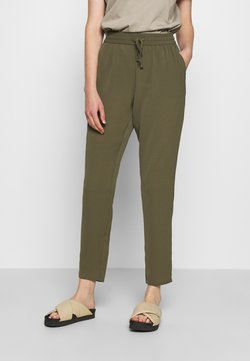 Vero Moda - VMSAGA STRING PANT - Trousers - ivy green