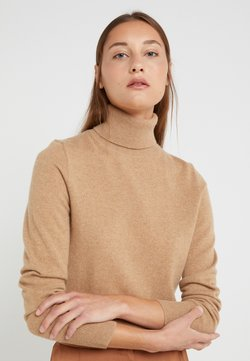 J.CREW - LAYLA TURTLENECK - Neule - heather camel