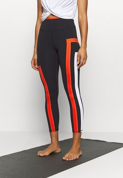 Free People - NEW HEIGHTS LEGGING - Tights - black/red