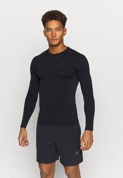 ODLO - PERFORMANCE WARM ECO CREW NECK - Camiseta interior - black/new odlo graphite grey