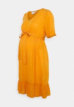 MAMALICIOUS - MLLANA 2/4 WOVEN SHORT DRESS  - Freizeitkleid - desert sun