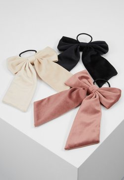 ONLY - ONLADELKA BOW ELASTIC 3 PACK - Haar-Styling-Accessoires - black/creme/blush
