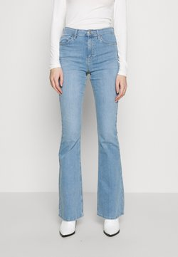 Topshop - JAMIE - Flared Jeans - bleach