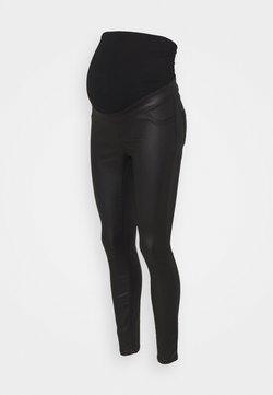 Dorothy Perkins Maternity - MATERNITY OVERBUMP COATED EDEN  - Jeans Skinny Fit - black