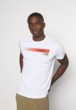 Jack & Jones - JCOICONIC TEE CREW NECK - T-shirt imprimé - white