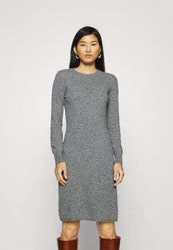 Benetton - DRESS - Etuikleid - grey