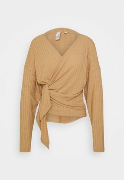 Nly by Nelly - LUXURIOUS WRAP - Pitkähihainen paita - beige