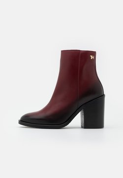 Tommy Hilfiger - SHADED BOOT - High heeled ankle boots - deep rouge