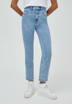 PULL&BEAR - BASIC - Relaxed fit -farkut - mottled light blue