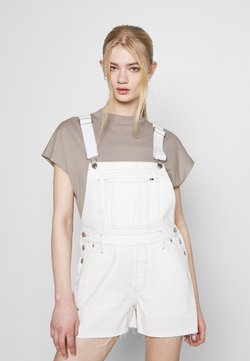 Tommy Jeans - DUNGAREE - Tuinbroek - white