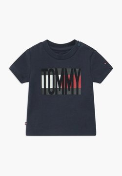Tommy Hilfiger - BABY FLAG TEE - T-shirt print - blue