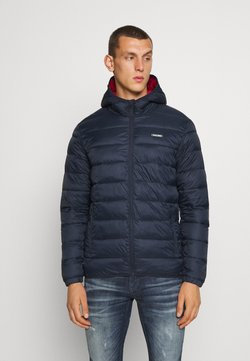Jack & Jones - JJVINCENT PUFFER HOOD - Winterjacke - navy blazer