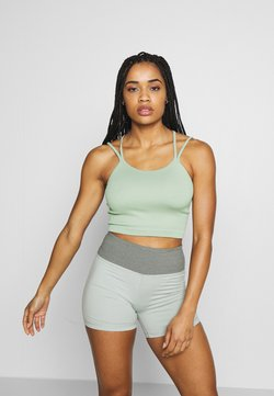 Cotton On Body - SEAMFREE STRAPPY VESTLETTE - Top - washed aloe