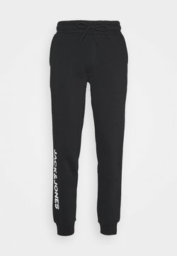 Jack & Jones - JJIGORDON SIDE SOFT PANTS - Jogginghose - black