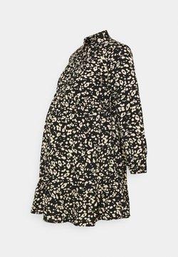 New Look Maternity - SALLY LEOPARD TIERED DRESS - Blusenkleid - black