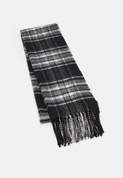 Johnstons of Elgin - 100% Cashmere Tartan Scarf - Szal - black/white