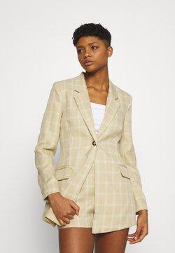 Missguided - CHECK - Abrigo corto - beige