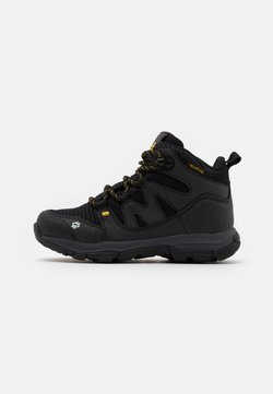 Jack Wolfskin - MTN ATTACK 3 TEXAPORE MID UNISEX - Hikingschuh - black/burly yellow