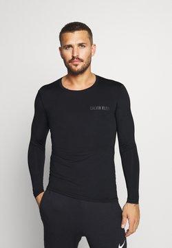 Calvin Klein Performance - LONG SLEEVE - Pitkähihainen paita - black