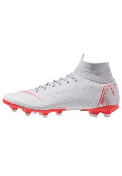 Nike Performance - MERCURIAL 6 PRO AG PRO - Fußballschuh Nocken - wolf grey/light crimson/pure platinum/metallic silver