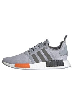 adidas Originals - NMD_R1 UNISEX - Sneaker low - halo silver/black silver metallic/bahia orange