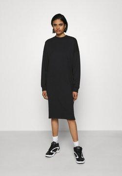 Monki - MINDY DRESS - Jerseykleid - black solid
