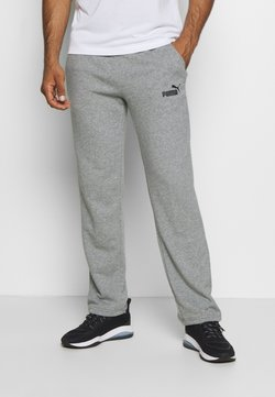 Puma - ESS LOGO PANTS  - Verryttelyhousut - medium gray heather