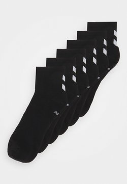 Hummel - CHEVRON MID CUT 6 PACK UNISEX - Sportsocken - black