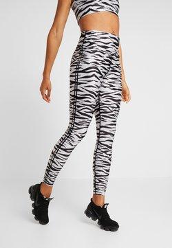 Good American - ZEBRA LEGGING - Tights - balck/white