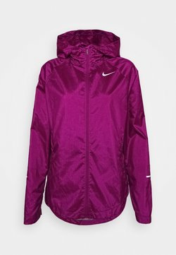 Nike Performance - RUN JACKET - Laufjacke - red plum/silver