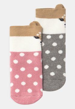 Ewers - SOFTSTEP FAWN 2 PACK - Socks - grau/rosa