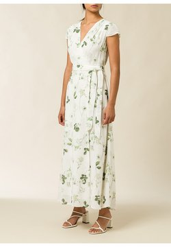 IVY & OAK - Robe longue - aop - branche flowers snow white