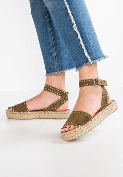 ALOHAS - ROME STUDDED - Korkeakorkoiset sandaalit - olive