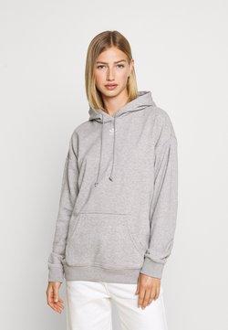 adidas Originals - TREFOIL ESSENTIALS HOODED - Kapuzenpullover - medium grey heather