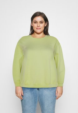 Levi's® Plus - MELROSE SLOUCHY CREW - Sweatshirt - shadow lime