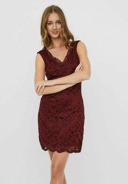 Vero Moda - ÄRMELOSES V-AUSSCHNITT - Cocktailkleid/festliches Kleid - cabernet