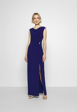 Lauren Ralph Lauren - CLASSIC LONG GOWN TRIM - Ballkleid - parisian blue